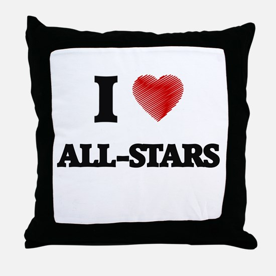 I Love ALL-STARS Throw Pillow