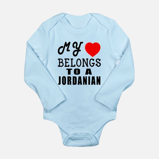 I Love Jordanian Long Sleeve Infant Bodysuit
