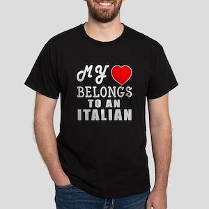 I Love Italian Dark T-Shirt