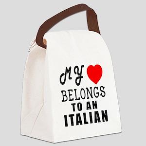 I Love Italian Canvas Lunch Bag