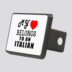 I Love Italian Rectangular Hitch Cover