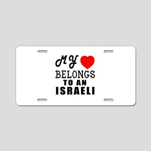 I Love Israeli Aluminum License Plate