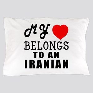 I Love Iranian Pillow Case