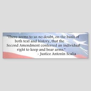 Antonin Scalia - Second Amendment - Bumper Sticker