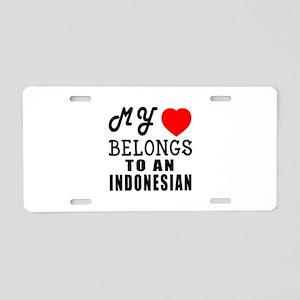I Love Indonesian Aluminum License Plate