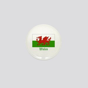 Wales Flag Mini Button