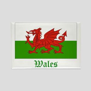 Wales Flag Rectangle Magnet