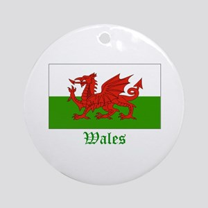 Wales Flag Ornament (Round)