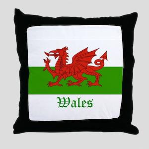 Wales Flag Throw Pillow