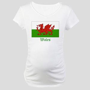 Wales Flag Maternity T-Shirt