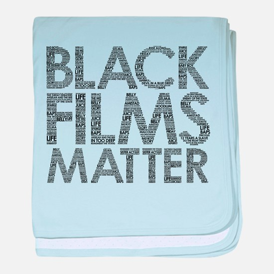 Black film baby blanket