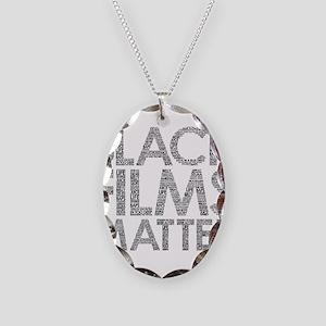 Black film Necklace Oval Charm