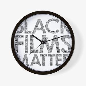 Black film Wall Clock