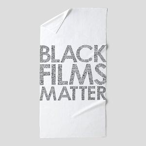 Black film Beach Towel