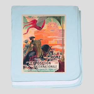 Vintage poster - Rome baby blanket
