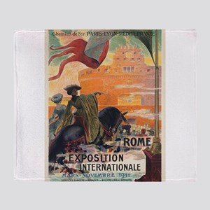 Vintage poster - Rome Throw Blanket