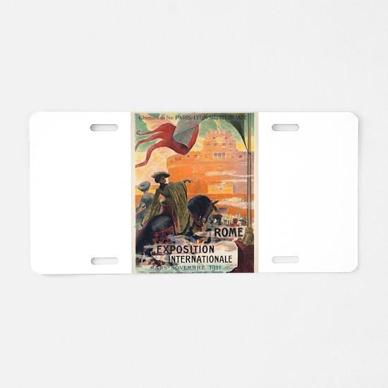 Vintage poster - Rome Aluminum License Plate