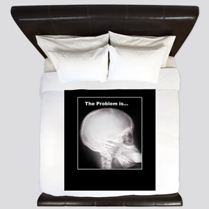 foot in mouth xray King Duvet