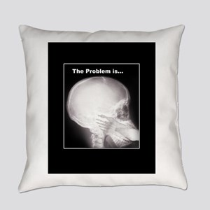 foot in mouth xray Everyday Pillow