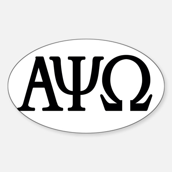 Cute Omega phi psi Sticker (Oval)