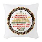 Blame The EPA Woven Throw Pillow