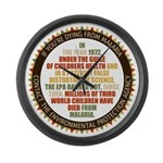 Blame The EPA Large Wall Clock