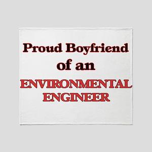 Proud Boyfriend of a Environmental E Throw Blanket