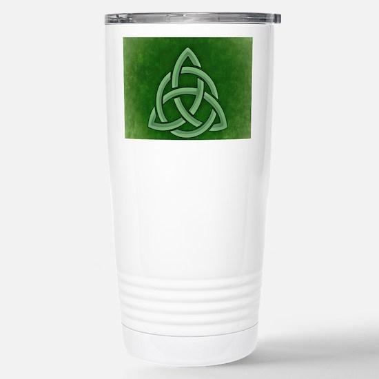 Triangular Celtic Knot Stainless Steel Travel Mug