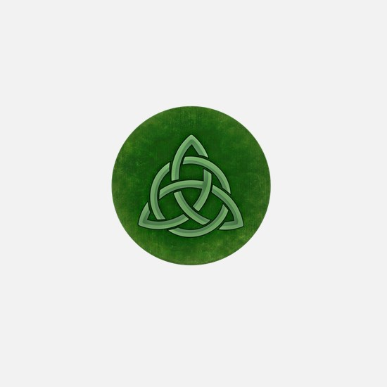 Triangular Celtic Knot Mini Button