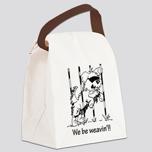 We be weavin!! Canvas Lunch Bag