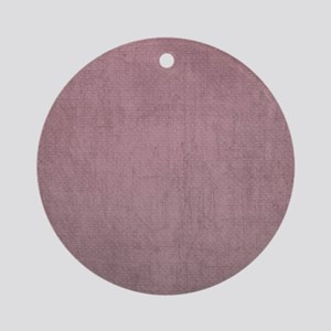 dark pink background Round Ornament