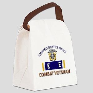 Navy E Ribbon - Cbt Vet - E2 Canvas Lunch Bag