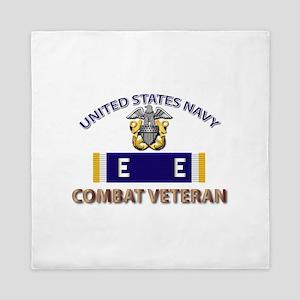 Navy E Ribbon - Cbt Vet - E2 Queen Duvet