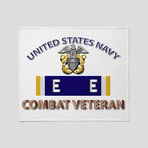 Navy E Ribbon - Cbt Vet - E2 Throw Blanket