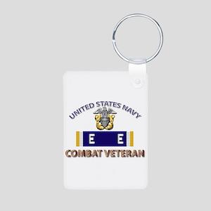 Navy E Ribbon - Cbt Vet - Aluminum Photo Keychain