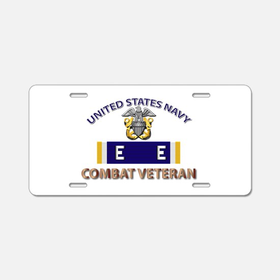 Navy E Ribbon - Cbt Vet - E Aluminum License Plate
