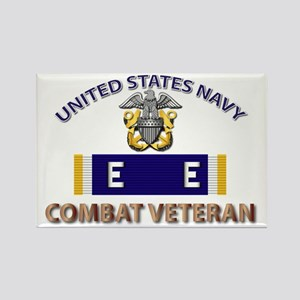 Navy E Ribbon - Cbt Vet - E2 Rectangle Magnet
