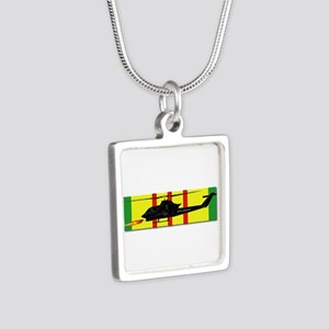 Vietnam - VCM - AH-1 Cobra Silver Square Necklace