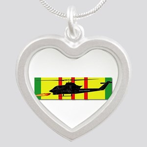 Vietnam - VCM - AH-1 Cobra Silver Heart Necklace