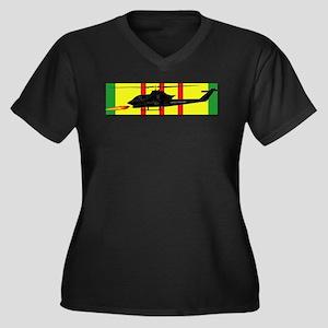 Vietnam - VC Women's Plus Size V-Neck Dark T-Shirt