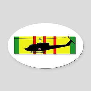 Vietnam - VCM - UH-1 Huey - Mediev Oval Car Magnet