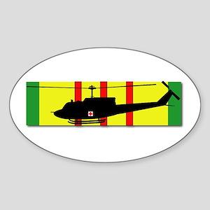 Vietnam - VCM - UH-1 Huey - Medieva Sticker (Oval)