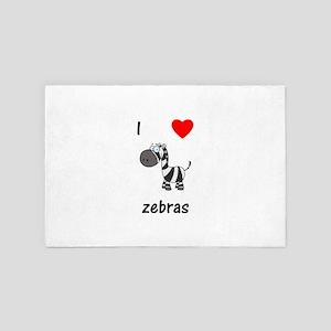 I love Zebras 4' x 6' Rug