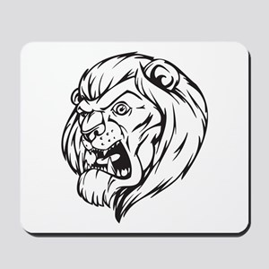 Lion Mascot (Black) Mousepad