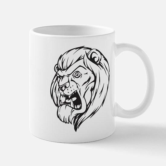 Lion Mascot (Black) Mug