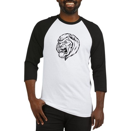 Lion Mascot (Black) Baseball Jersey
