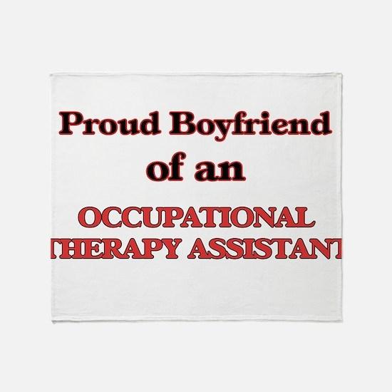 Proud Boyfriend of a Occupational Th Throw Blanket