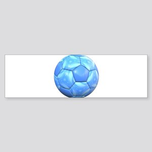 Swirling Light Blue Soccer Ball Bumper Sticker