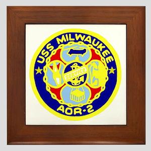 USS Milwaukee (AOR 2) Framed Tile