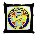 USS Milwaukee (AOR 2) Throw Pillow